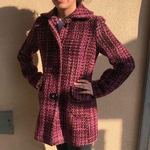Banana Republic Wool Purple Pea Coat Sze Small